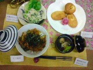昨日はお手軽惣菜でした