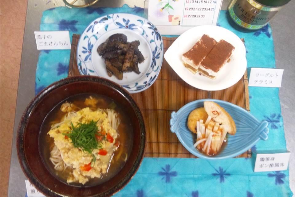 和風料理〜冷製煎り豆腐めん
